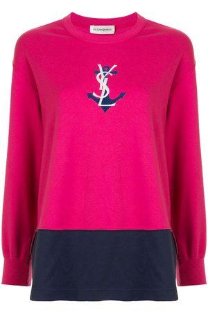 Yves Saint Laurent Damen T-Shirts, Polos & Longsleeves - T-Shirt mit Anker-Print