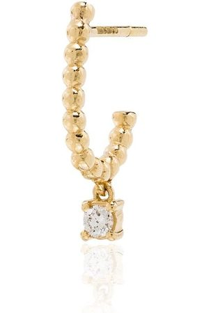 KIMAI 18kt Gelbgold-Hängeohrring mit Diamanten
