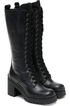 Miu Miu Damen Overknees - Stiefel aus Leder