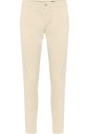 AG Jeans Damen Cropped - Hose The Caden aus Twill