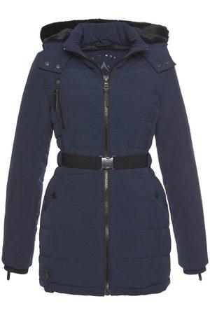 ALPENBLITZ Damen Winterjacken - Winterjacke »Oslo short« hochwertige Steppjacke mit Markenprägung auf dem elastischem Gürtel und kuscheliger, abnehmbarer Kapuze