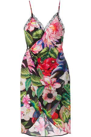 Philipp Plein Damen Freizeitkleider - Wickelkleid mit Blumen-Print