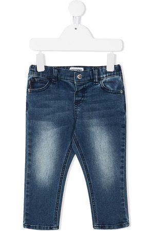 Moschino Kids Skinny - Ausgeblichene Skinny-Jeans