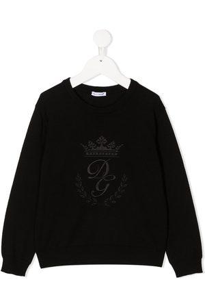 Dolce & Gabbana Kids Pullover mit DG-Kronenstickerei