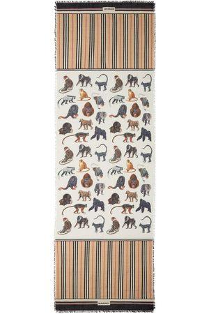 Burberry Schal mit Affen-Print