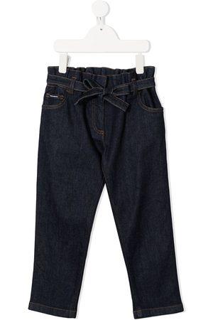 Dolce & Gabbana Gerade Jeans mit Bindegürtel