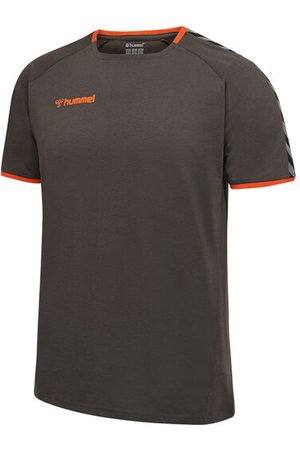 Hummel Kurzärmliges Trainings-T-Shirt, ASPHALT, S