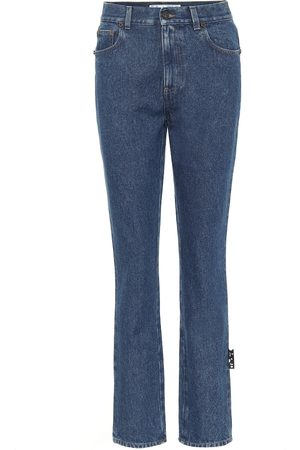 OFF-WHITE High-Rise Straight Jeans