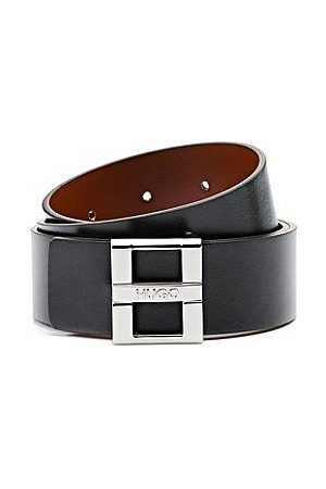 HUGO BOSS Damen Gürtel - Gürtel aus Glattleder mit Logo-Dornschließe