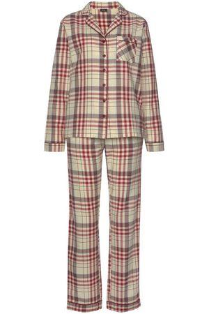 H.I.S Pyjama mit aus Flanell Allover-Karomuster