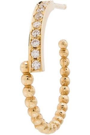 Kimai 18kt 'Perla' Gelbgoldcreole mit Diamanten