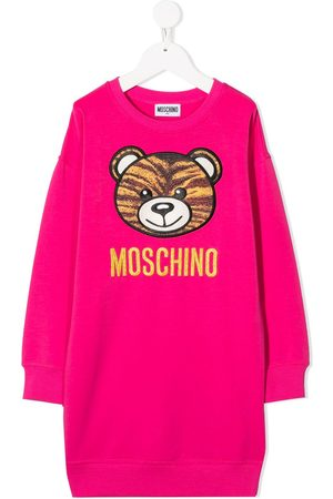 Moschino Kids Mädchen Freizeitkleider - Kleid mit Teddy
