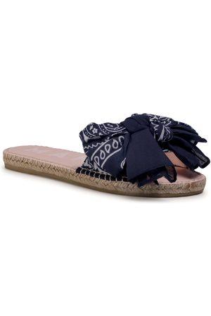 MANEBI Sandals With Bow F 9.6 J0 Navy Bandana