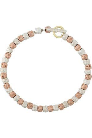 Dodo 9kt Rotgold- und Silberarmband mit Perlen