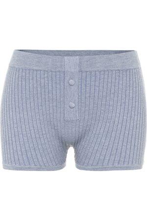 LIVE THE PROCESS Shorts aus Rippstrick