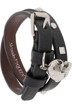 Alexander McQueen Gewickeltes Armband mit Totenkopf