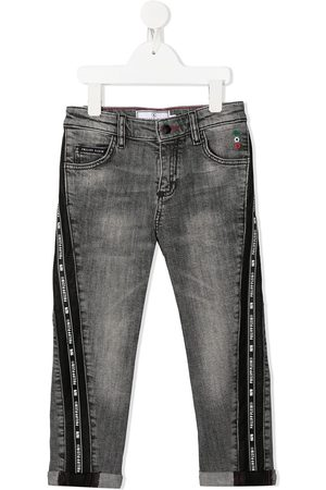 Philipp Plein Junior Gerade 'Iconic Plein' Jeans