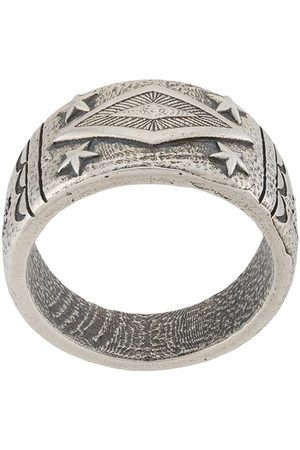 Nialaya Gravierter Ring aus Sterlingsilber