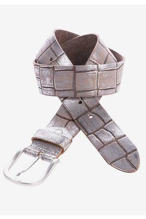 Cipo & Baxx Ledergürtel mit Metallic-Effekt