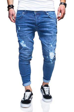 behype Slim-fit-Jeans »ODIN« mit Destroyed-Parts