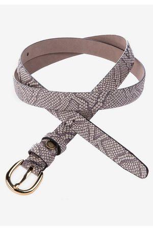 Cipo & Baxx Ledergürtel mit Schlangen-Print