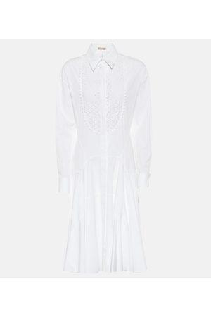 Alaïa Hemdblusenkleid aus Baumwolle