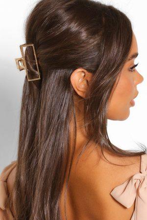 Boohoo Damen Haarschmuck - Womens Rechteckige Cutout-Haarspange Aus Metall - - One Size