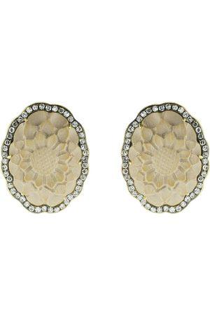 Sylva & Cie 18kt Gelbgoldohrringe mit Diamanten