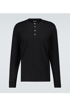 Tom Ford Henley-Langarmshirt aus Baumwolle