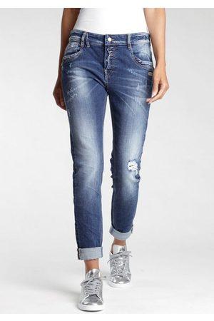 Gang 5-Pocket-Jeans »Gerda« mit halb offener Knopfleiste