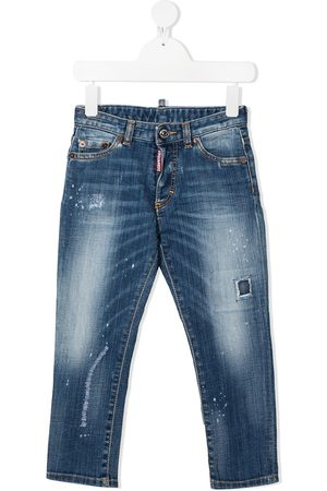 Dsquared2 Distressed-Jeans mit Logo-Patch