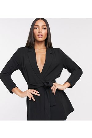 ASOS ASOS DESIGN Tall – Anzugblazer aus Jersey mit Wickeldesign in