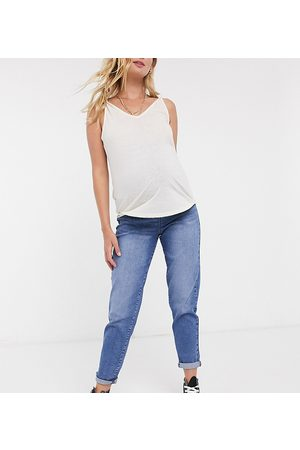 Urban Bliss – Mom-Jeans in dunkler Waschung
