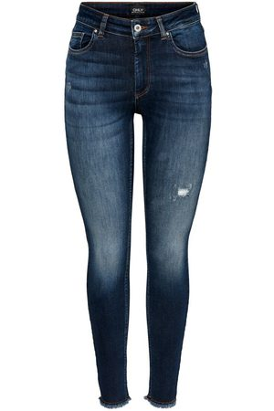 Only Damen Straight - Onlblush Life Mid Ankle Skinny Fit Jeans Damen