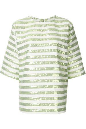 Bambah Damen T-Shirts - Kurzärmeliges Strickoberteil