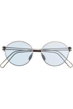 WERKSTATT:MÜNCHEN Runde Sonnenbrille in Distressed-Optik