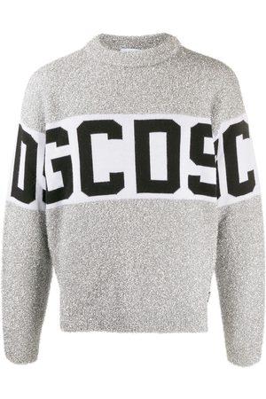 GCDS Herren Strickpullover - Pullover mit Metallic-Logo