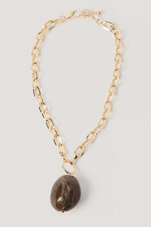 NA-KD Oversize Stein Anhänger Kette Halskette