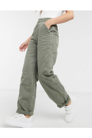ASOS – Lockere Chinohose in Khaki