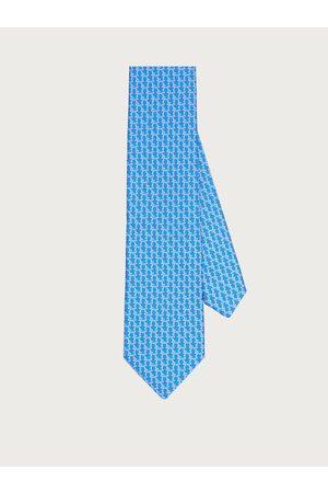 Salvatore Ferragamo Herren Gancini print silk tie