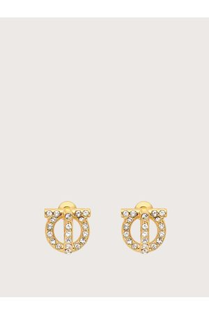 Salvatore Ferragamo Damen Gancio 3D earrings with crystals