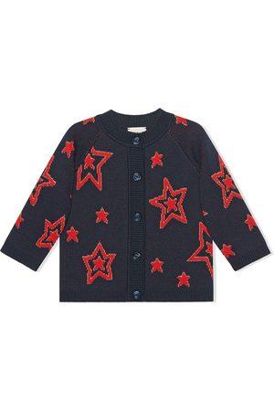 Gucci Jacquard-Cardigan mit Sternen