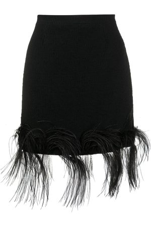 Patou Damen Miniröcke - Minirock mit Federn
