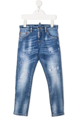 Dsquared2 Jungen Cropped - Jeans im Distressed-Look