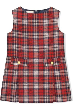 Gucci Kariertes Kleid mit Square G