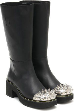 Miu Miu Stiefel aus Leder mit Nieten