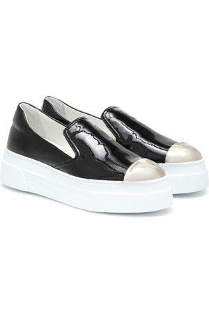 Miu Miu Plateau-Sneakers aus Lackleder