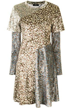 GOEN.J Damen Freizeitkleider - Kleid mit Blumen-Print