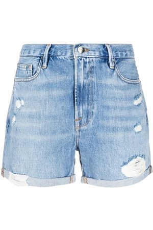 FRAME Los Angeles' Distressed-Shorts
