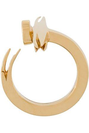KASUN LONDON Vergoldeter Sterlingsilberring mit offenem Design
